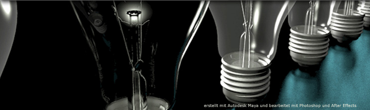 light bulbs built with Autodesk Maya